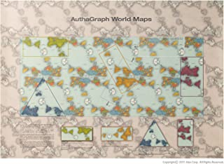 AuthaGraph World Maps. 40 'AuthaGraph' world maps in one. A new world map reengineered to represent the true relative sizes of continents & seas. GOOD DESIGN AWARD in Japan