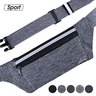 JCLX Running Waist Packs, Ultra Light Bounce Free Waist Pouch Fitness Workout Belt Sport Waist Pack Exercise Waist Bag for Apple iPhone 8 X 7 6+ 5s Samsung in Running Gym Marathon Cycling