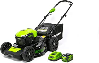 GreenWorks MO40L410 G-MAX 40V 20-Inch Cordless 3-in-1 Lawn Mower with Smart Cut Technology, (1) 4Ah Battery and Charger in...