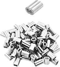 Mandala Crafts Aluminum Wire Ferrule, Cable Swage, Crimping Loop Rope Sleeve for Hanging; 200 Pieces, 1.5mm 1/16 Inch