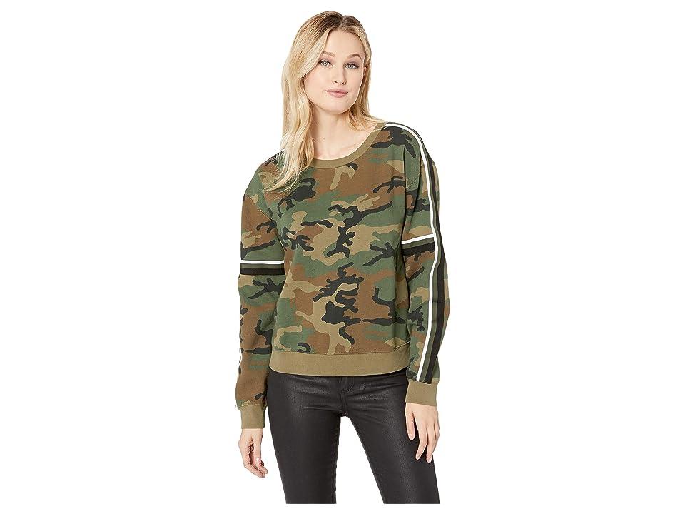 Sanctuary Backtrack Camo Fleece Sweatshirt (Love Camo) Women