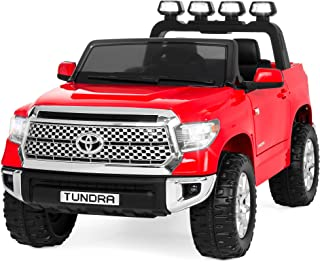Best Choice Products 12V Kids Battery Powered Remote Control Toyota Tundra Ride On Truck - Red