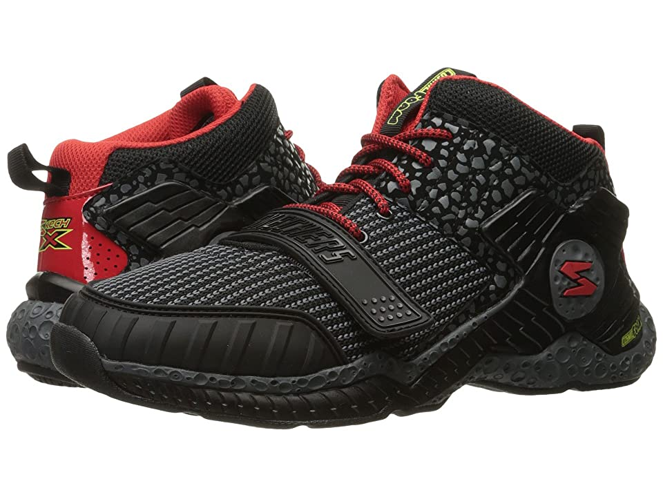 SKECHERS KIDS Cosmic Foam II-Overrun (Little Kid/Big Kid) (Black/Red) Boys Shoes