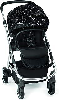 Diono Excurze Mid Size Stroller, Black Platinum