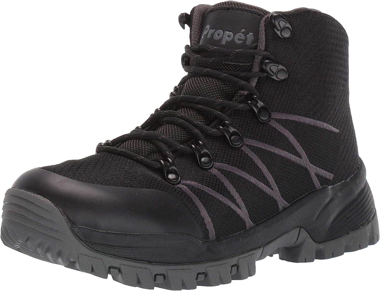 Propet Men's 5% OFF Traverse Hiking Boot Black Grey Popular product US 08 Dark D