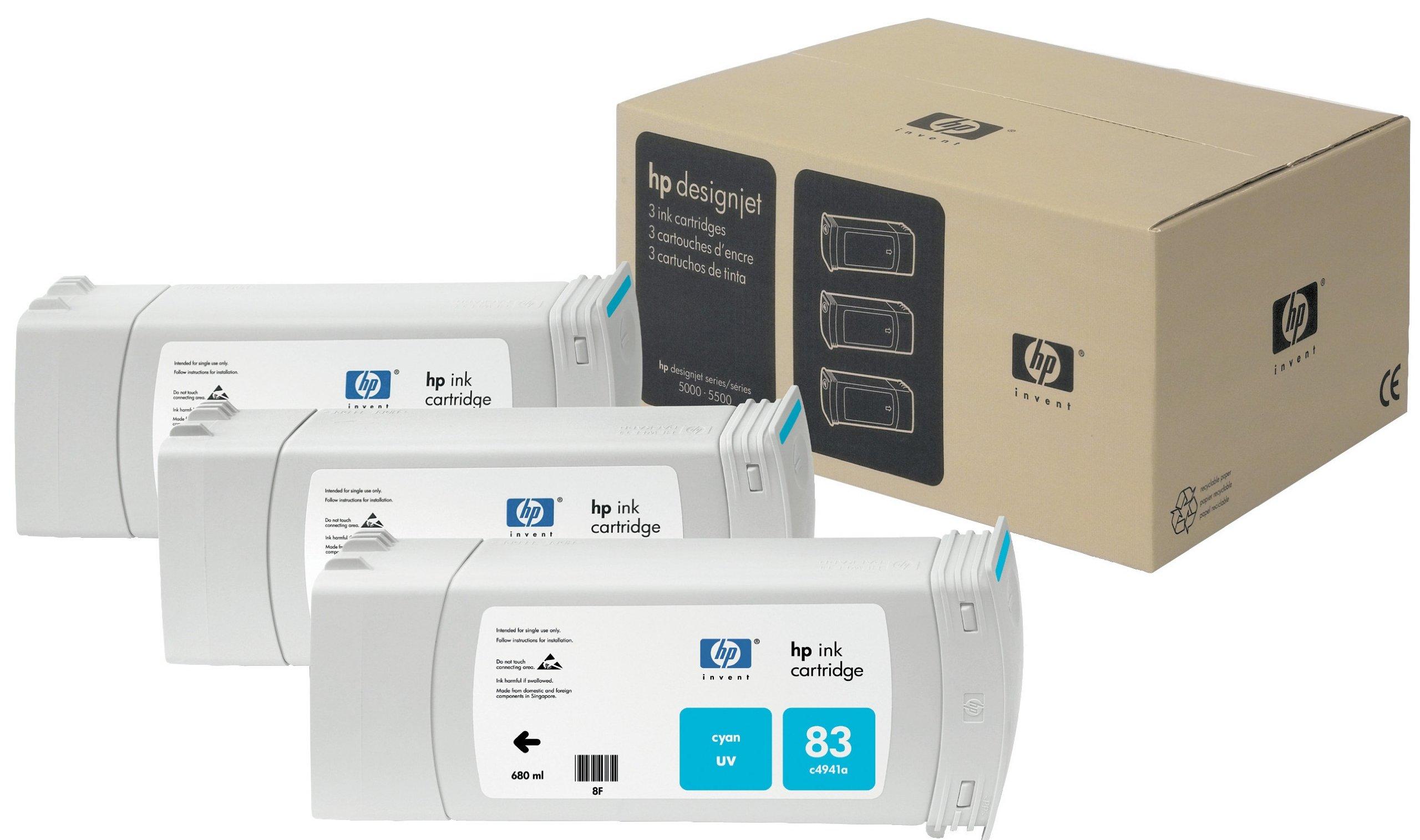 HP C5073A - Cartucho de tinta para impresora HP DesignJet (cyan, 3 x 680 ml): Hp: Amazon.es: Oficina y papelería