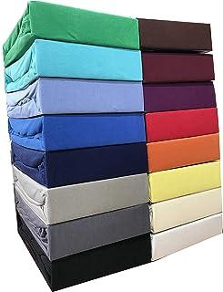 Leonado Vicent - Classic Spannbettlaken Bettlaken 100% Baumwolle Jersey Spannbetttuch in vielen Farben & Größen MARKENQUAL...