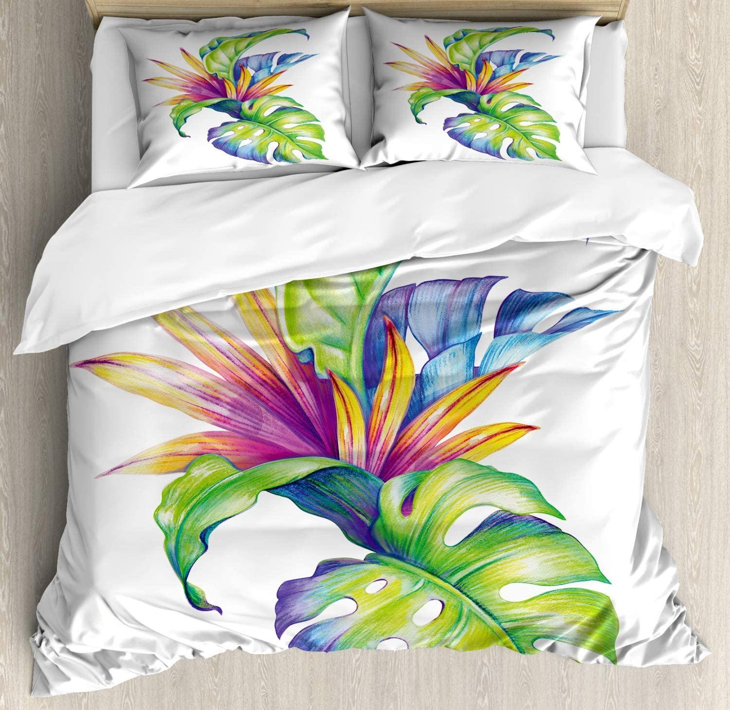 Red Teal Floral Painting with Colorful Bouquet of Poppy Flowers in Vase Decorative 3 Piece Bedding Set with 2 Pillow Shams Queen Size Ambesonne Impressionist Duvet Cover Set