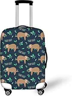 BIGCARJOB Cartoon Luggage Cover Suitcase Protective Elastic Covers Sloth Printed Fit 22-24 inch