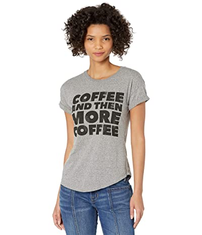 The Original Retro Brand Rolled Slub Short Sleeve Coffee and More Coffee Tee