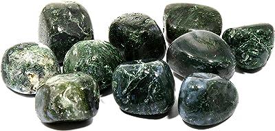 Moss Agate Tumble Stones (20-25mm) - Single Stone