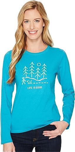 Life is Good - Night Woods Long Sleeve Crusher Tee