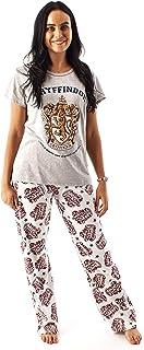 Harry Potter Pyjamas For Women | Ladies Gryffindor House Crest Top & Loungepants PJ set | HP Clothing Merchandise