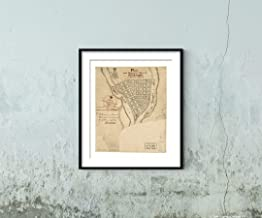 """1760 Map of Pittsburgh, Pennsylvania