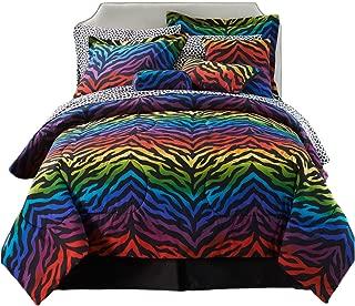 Karin Maki Zebra Complete Bedding Set, Queen, Rainbow