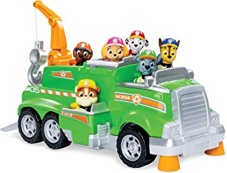 PAW Patrol, Rocky's Total Team Rescue Recycling Truck with 6 Pups, for Kids Aged 3 and Up