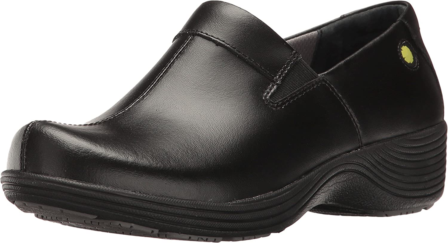 Ladies Black Patent Comfy Casual Hospital Work School Shoes Slip On Mules Sizes