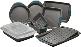 Rachael Ray 47025 Nonstick Bakeware Set with Grips includes Nonstick Bread Pan, Baking..