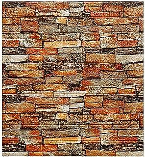 10 قطع من ورق جدران من CAETNY ذاتي اللصق ثلاثي الأبعاد على الطراز الصناعي لجدار المتجر ملصق من الفوم المقاوم للماء ثلاثي ا...