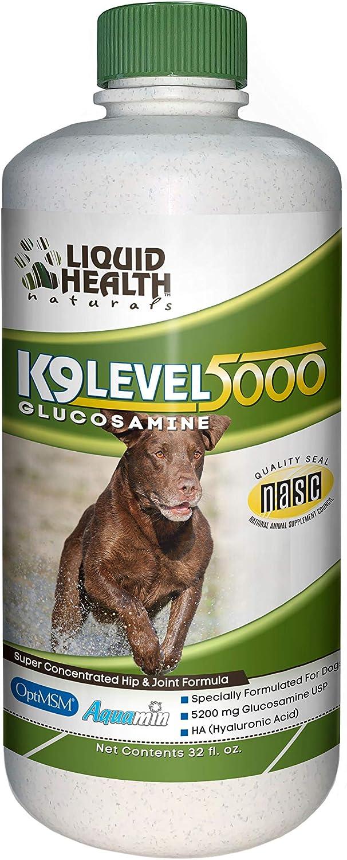 Liquid Health K9 Level Max 67% OFF 5000 Glucosamine 8 Max 47% OFF Chondroitin o MSM Opti