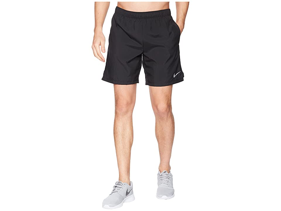 Nike Challenger 7 Dri-Fit Running Short (Black/Black/Black) Men