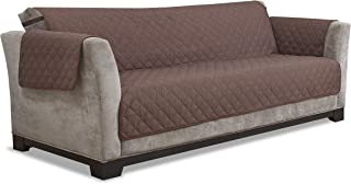 Furniture Fresh - Waterproof Microfiber Furniture Protector with Elastic Back Strap (Sofa, Chocolate)