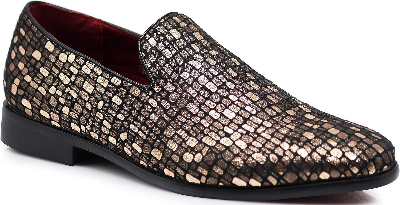 Enzo Romeo SPK14 Men's Fashion Tuxedo Smoking Dress Loafer Slip On shoes