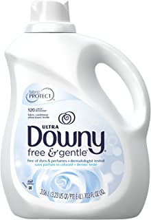 Downy Ultra Free & Gentle Liquid Fabric Conditioner (Fabric Softener), 120 Loads 3.06 L (Packaging may vary)