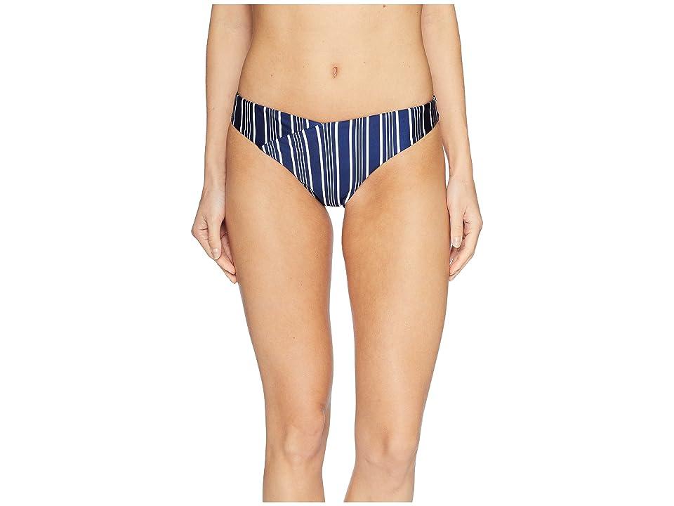 Roxy Urban Waves Moderate Bottoms (Medieval Blue Swim Vertical Stripe) Women