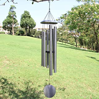 ASTARIN Wind Chimes Outdoor Deep Tone,45-Inch Memorial Wind Chimes Large with 6 Heavy Tubes,Amazing Grace Wind Chimes Outd...