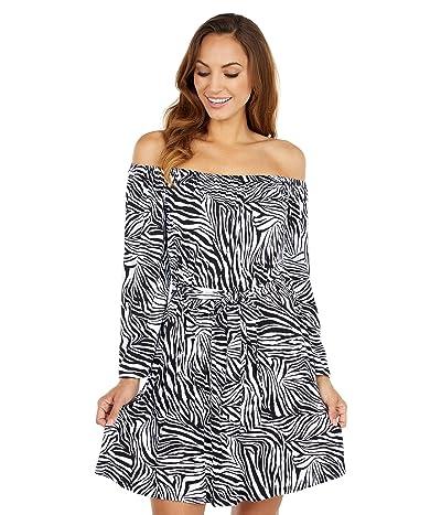 MICHAEL Michael Kors Zebra Off Shoulder Mini Dress