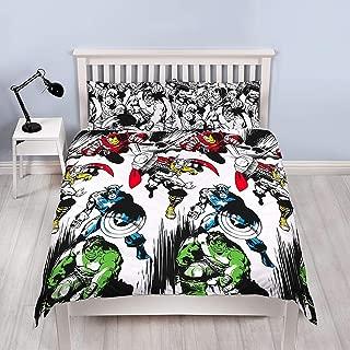 Marvel Comics Crop Unfilled Double Duvet Cover and Pillowcase Set 1 Duvet Cover and 2 Pillowcases