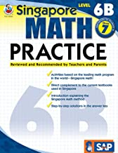 Singapore Math – Level 6B Math Practice Workbook for 7th Grade, Paperback, Ages 12–13 with Answer Key