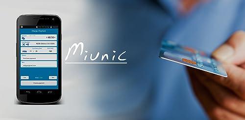 Miunic POS - Acepta pagos con tarjeta de crédito con tu teléfono móvil android - App for Stripe - Terminal Punto de Venta TPV