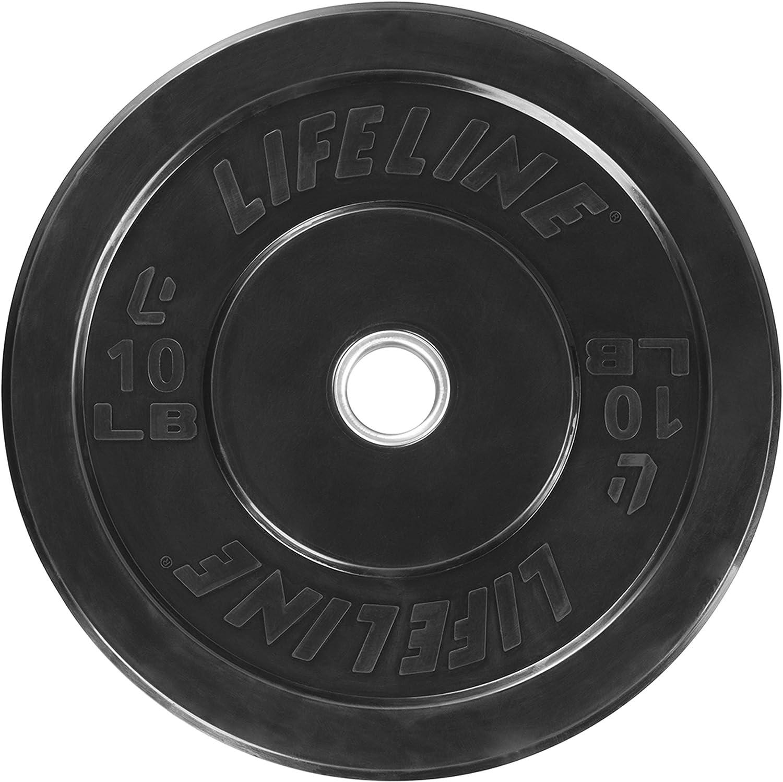 Lifeline Rubber Bumper Plate Multiple Weight Options