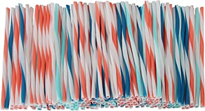 شفاطات شرب من شيف سيليكت، عدد 150، تصميم مقلم مزخرف بلون مرجاني، أزرق، أزرق مخضر