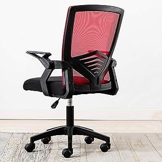 AAGYJ Silla ergonómica para Escritorio de Oficina, Silla de Malla para computadora con Brazos abatibles y Soporte Lumbar, sillas ejecutivas, sillas gerenciales, Silla portátil para Juegos,Rojo