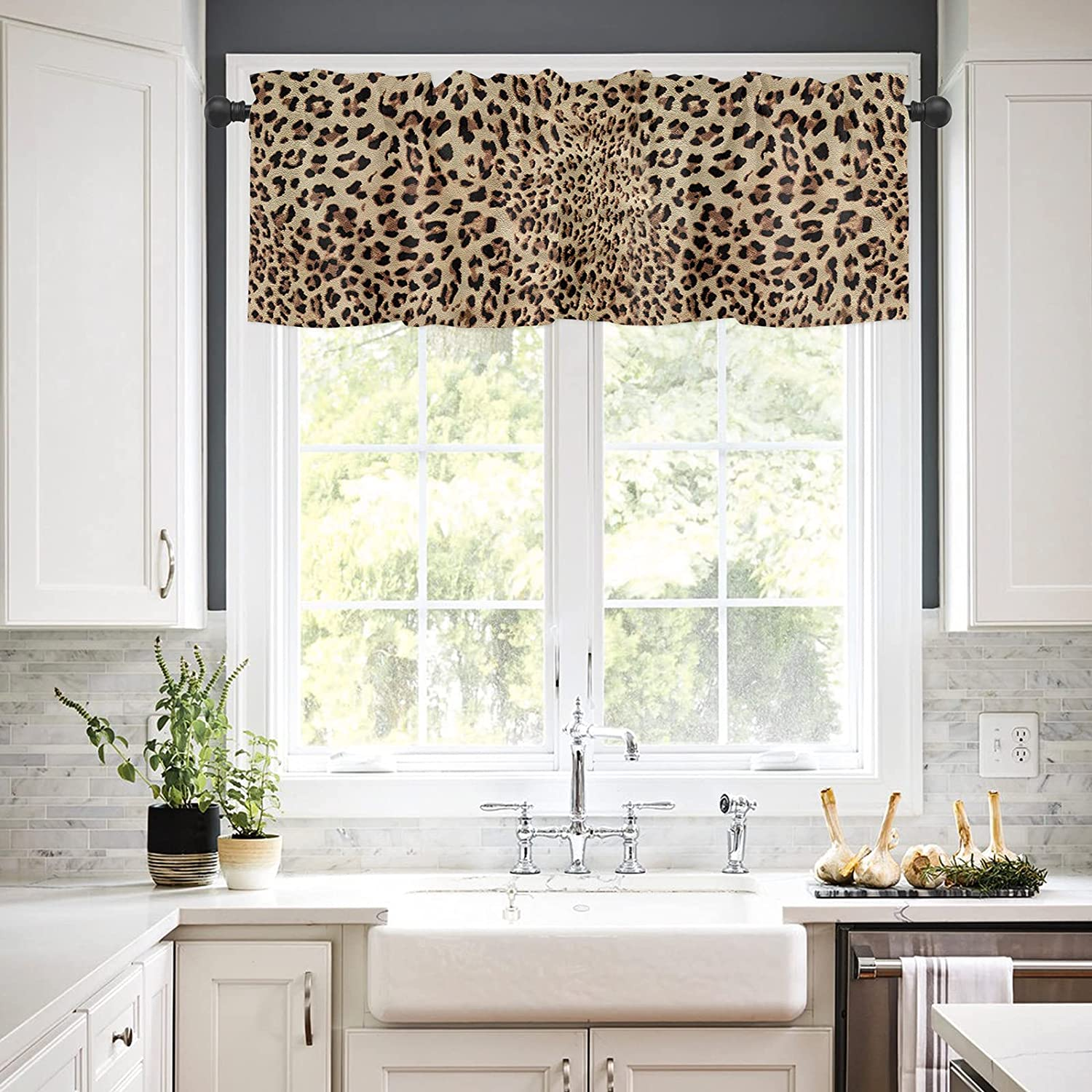 Rod Pocket Window Fashionable Valances Curtains Sexy Kitchen for online shopping Leopard Ani