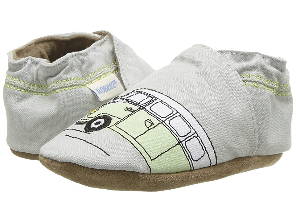 Robeez Beep Beep Soft Sole (Infant/Toddler) (Grey) Boy