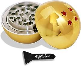 Official Dragon Ball Z Herb Grinder - 4 Star Golden Dragonball Herb & Spice Tool With BONUS Scraper Tool - Dragon Ball Z Gifts - 3 Part Grinder, 2.2 Inches by Nestpark