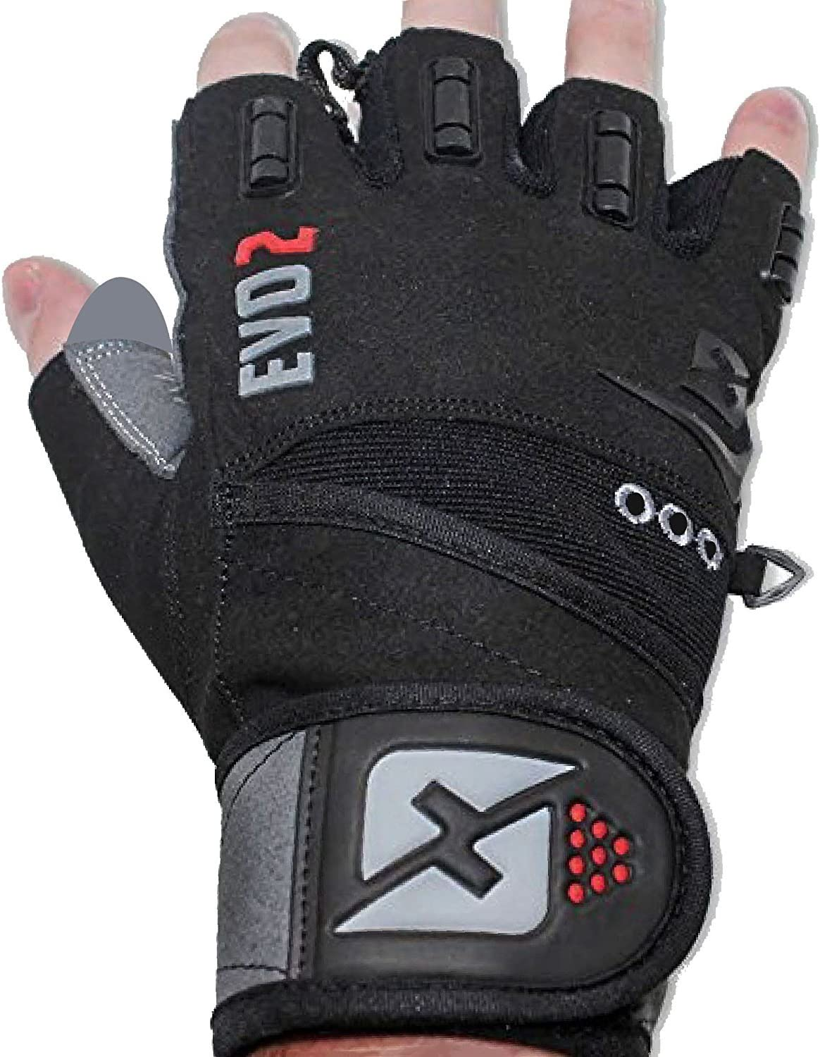 Skott Evo 2 Weight Lifting Gloves with Integrated Wrist Wrap Support-Double Stitching for Extra Durability-Get Ripped with The Best Body Building Fitness and Exercise Accessories