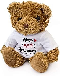 New - Happy 48th Anniversary - Teddy Bear - Cute Soft Cuddly - Gift Present 48 Year
