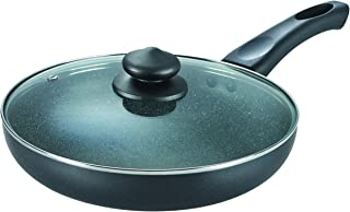Prestige Omega Deluxe Granite Fry Pan with Lid, 260mm,Black