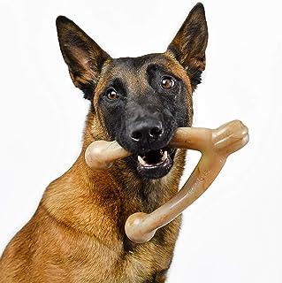 Pet Qwerks Wish BarkBone Dog Chew Toy, Bacon Flavor, Large