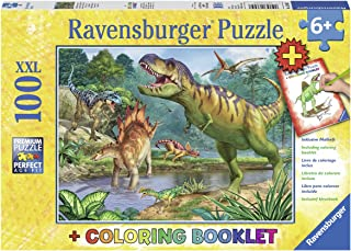 Ravensburger World of Dinosaurs 100 Piece Puzzle and Coloring Book Standard multi-colored 13695