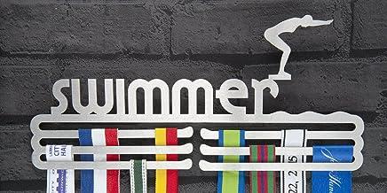 Runners Muur Vrouwelijke Zwemmer Medal Hanger Beeldscherm