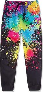Lovekider Pantalones de chándal para niño con impresión 3D gráfica con cordón y bolsillos, de poliéster, transpirables, pa...