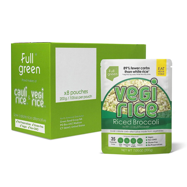 Cauli Rice - Fullgreen Low wi Riced Carb Cauliflower Broccoli 祝日 超歓迎された