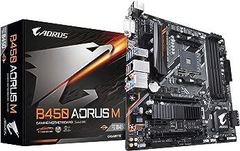 GIGABYTE B450 AORUS M (AMD Ryzen AM4/M.2 Thermal Guard/HDMI/DVI/USB 3.1 Gen 2/DDR4/Micro ATX/Motherboard) (Renewed)