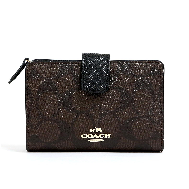 侮辱スポーツをする名声[コーチ] COACH 財布 (二つ折り財布) F53562 ブラウン×ブラック IMAA8 シグネチャー 財布 レディース [アウトレット品] [並行輸入品]